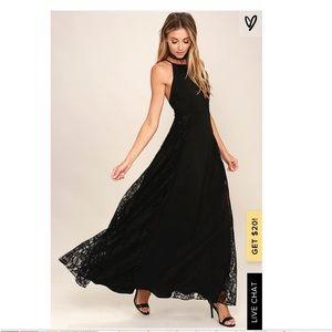 NWT Lulu's Dark of Night Maxi Dress